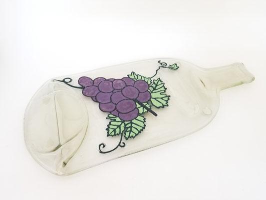 Bouteille de vin avec peinture au gour 45$