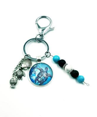Porte clés tortue dans la mer 15$
