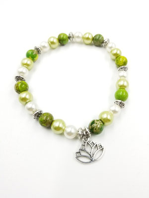 Bracelet grand ou chaîne de cheville avec pierres semies-précieuses 20$