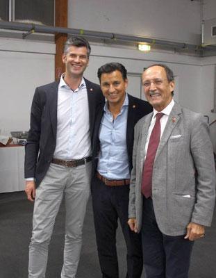 Geschäftsführer Sportunion-Wien Mag. Gerd Bischofter, Mag. Heralic, Präsident Sportunion Wien Prof. Walter Strobl