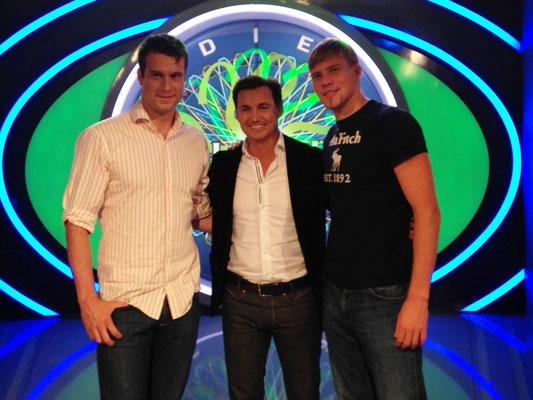 Sporthilfe Millionenshow 2013: Markus Rogan, Mag. Heralic, Dinko Jukic