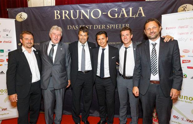 Bruno-Gala 2014: Mag. Heralic mit dem VDF-Team (v.l.n.r.): Gregor Pötscher, Dr. Rudolf Novotny, Gernot Zirngast, Gernot Baumgartner, Oliver Prudlo