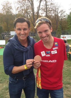 Andreas Onea mit Paralympics-Bronzemedaille, Mag. Heralic