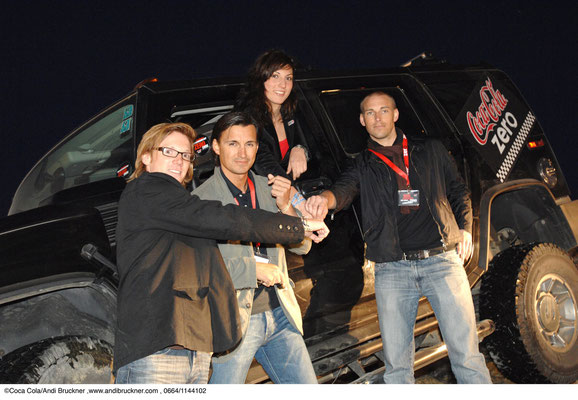 Sporthilfe Wunscharmband 2007: Coca-Cola Event Mag (FH) Fischer, Mag. Heralic, Mirna Jukic, Mag. (FH) Scharmbacher