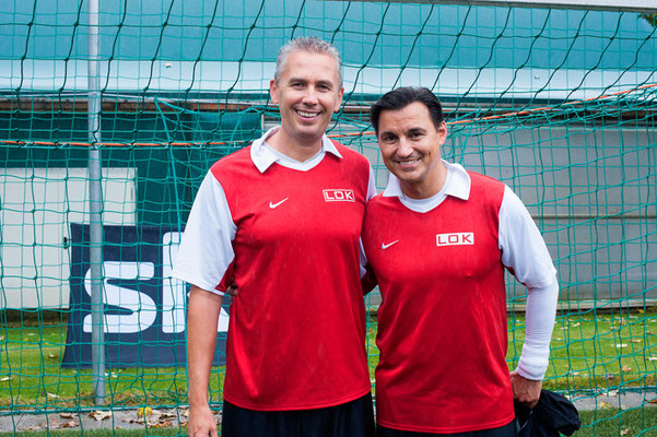 Horizont-Soccer-Cup 2014: Franz Solta (Managing Director, INFOSCREEN), Mag. Heralic