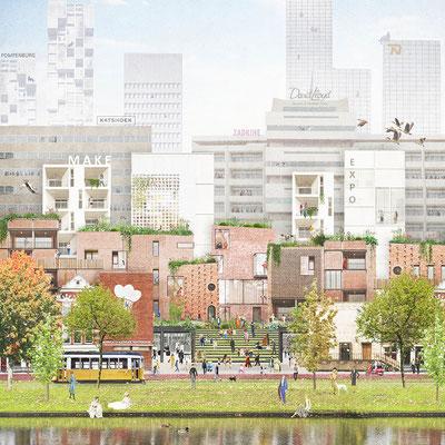 Digital collage winning tender Zoho for Echo Urban Design