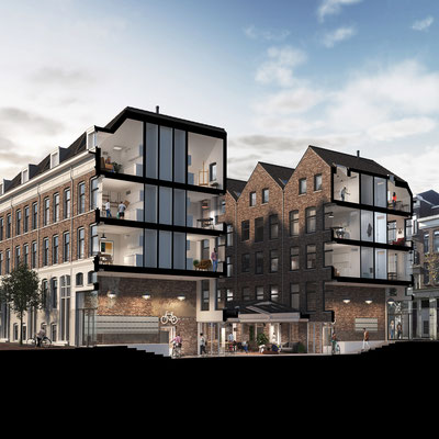 Student housing in downtown Rotterdam for Heida Matsumoto Architecten