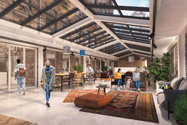 Studentenwoningen Rotterdam centrum in opdracht van Heida Matsumoto Architecten