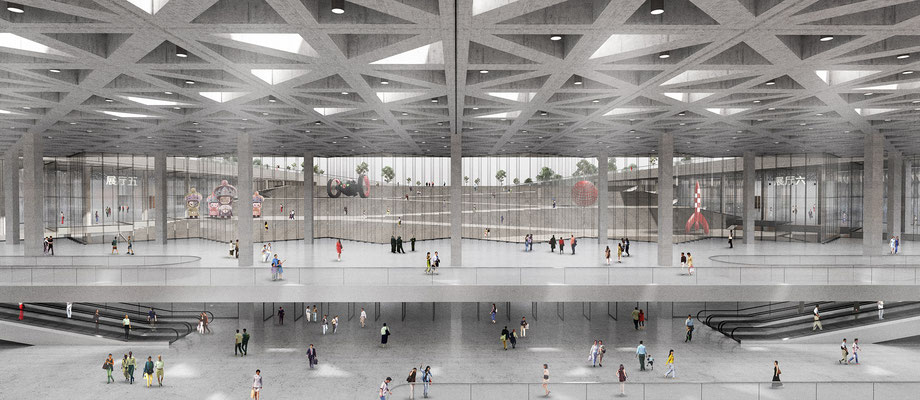 Xianyang Expo Congress interieur render in opdracht van Goldsmith