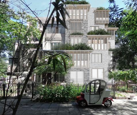 South facade retrofit Tsinghua dwellings
