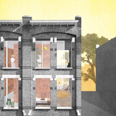 Exterior Insulindestraat facade renovation