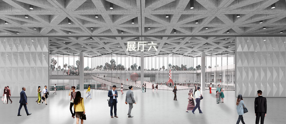 Xianyang Expo Congress interior render for Goldsmith
