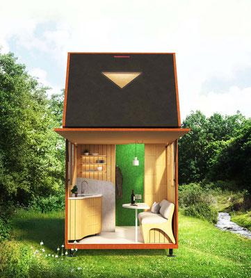 Haaks Camper interieurontwerp en visualisatie door Het Lege Atelier