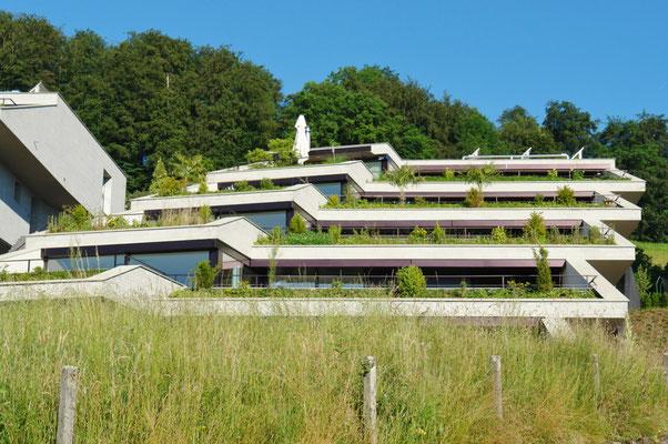 Futuristisch anmutende Individual-Architektur mit selbstbewusster Eigenständigkeit