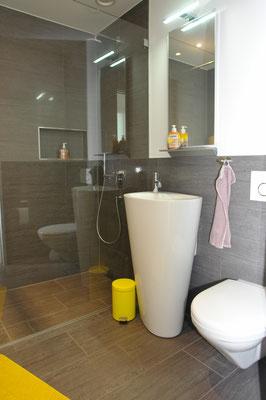 Modern gestylt: Dusche/WC