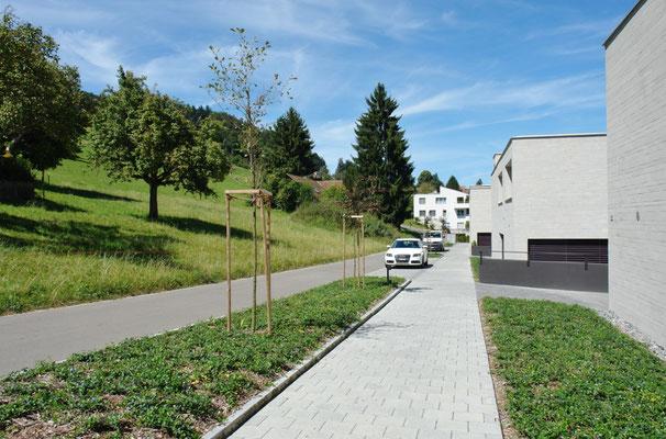 Sympathische Ländlichkeit: Oberdorfstrasse, wo sich die Besucher-PPs befinden