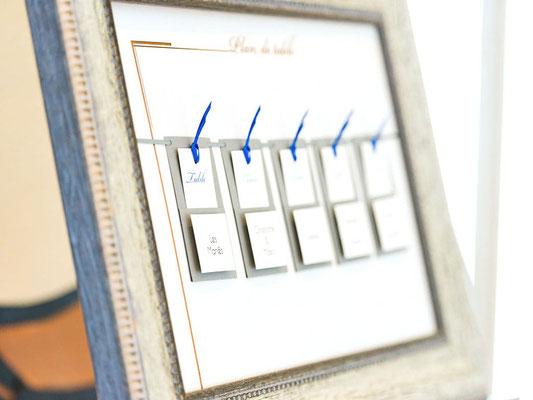 Plan de table bois/papier