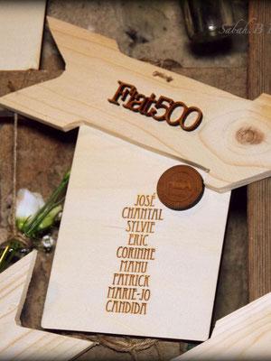 Plan de table escabeau en bois