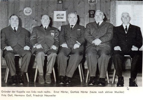 Die letzten Gründungsmitglieder 1970