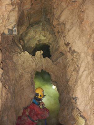 Il laghetto Binda a 220 metri di profondità