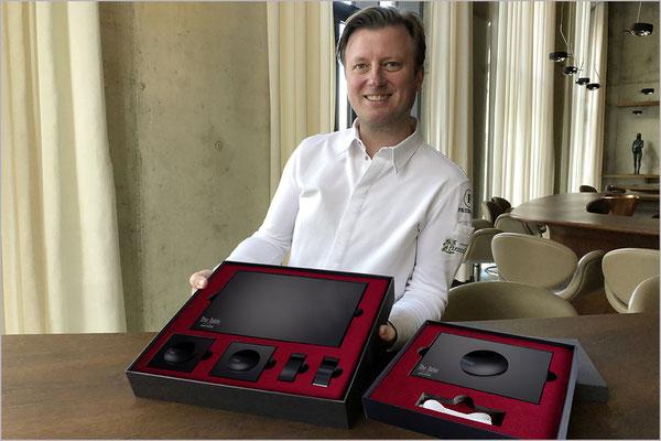 Kevin Fehling präsentiert sein Design Kollektion The Table by Black-Glass