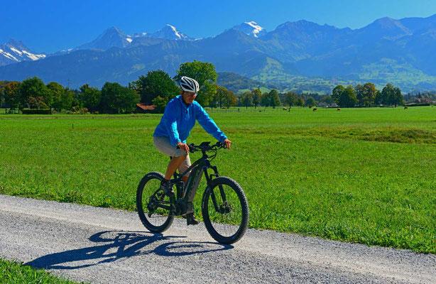 Mit dem E-Bike auf Tour im Thuner Westamt: übers Reutigmoos