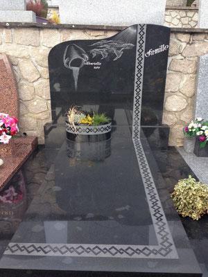 Fourniture et pose d'un monument funéraire