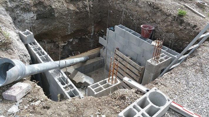 Construction caveau