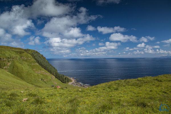 Von der Hochebene hatten wir einen grandiosen Blick zum offenen Atlantik.