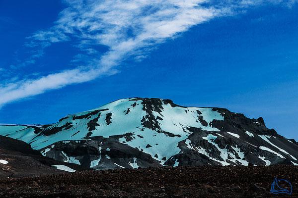 Kaldadalsvegur (550), die mit 40 km kürzeste der Hochlandverbindungen Islands.