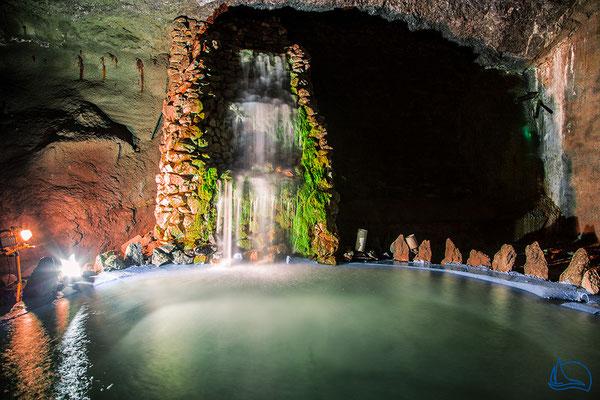 Wasserfall in der Marienglashöhle