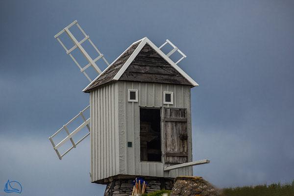 Die Windmühle ist schnell zu besichtigen.