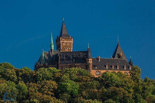 Schloss bei Sonnenaufgang