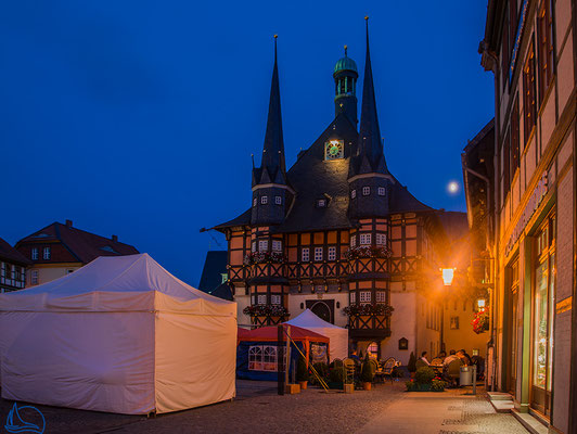 Wernigerode bei Nacht - Rathaus