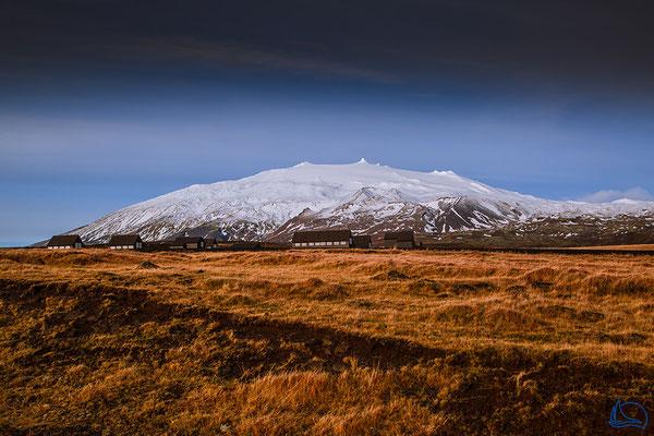 Blick auf den 1446 m hohen Gletscher Snæfellsjökull.