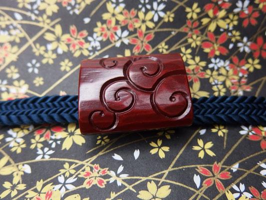 鎌倉彫帯留 ぐり