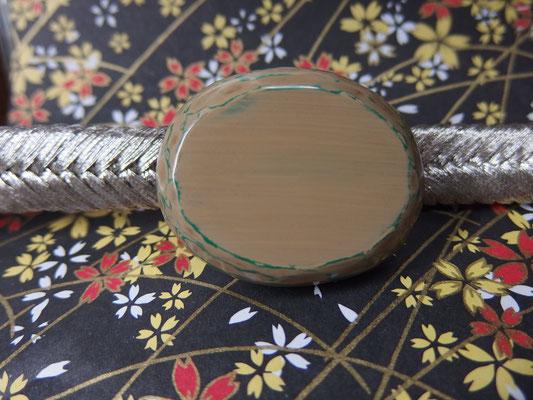 鎌倉彫帯留 帯留 刀痕/丸/白2