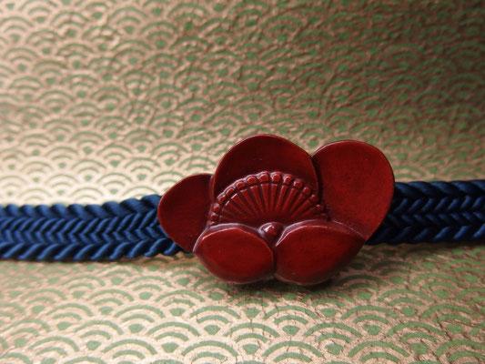 鎌倉彫帯留 梅2