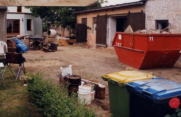 Baumaßnahmen auf dem Grundstück. Foto © privat