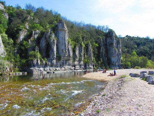 Ardèche - Plage à Labeaume