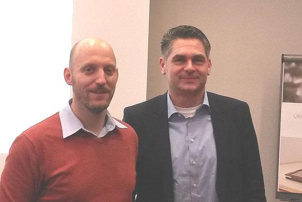 Patrick Breitenfeld (Leiter Produkmanagement Audio Service, links) und Oliver Settertobulte (Key Account Manager Audio Service, rechts)