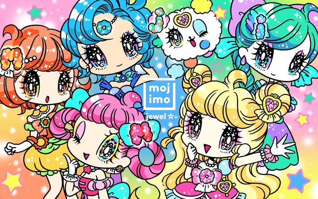 FONT WORKS「mojimo」mojimo-jewel☆ビジュアルイラスト
