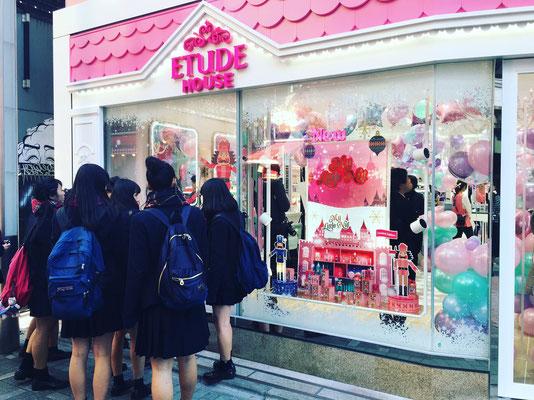 ETUDE HOUSE 原宿竹下通り本店 オープンイベント装飾デザイン