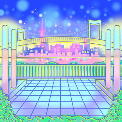 AbemaTV E-girlsさんの番組「全力部活!E高」の「胸キュン恋愛シミュレーション部」背景