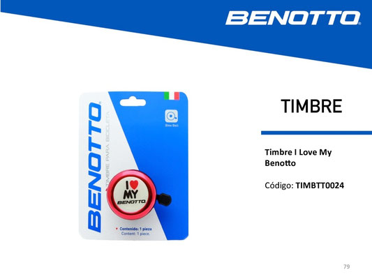 "+++Timbre BENOTTO 43C-09 ""I LOVE MY BENOTTO"" Rojo $50 MXN TIMBTT0026"