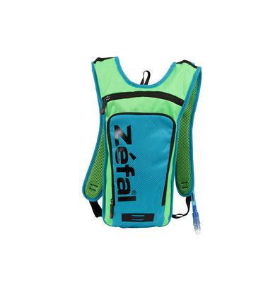 --Mochila de Hidratacion ZEFAL Montaña Z HYDRO M Capacidad 1L + Bolsa de Agua 1.5L Verde/Azul 7061B $1,430MXN MOCZEF0009