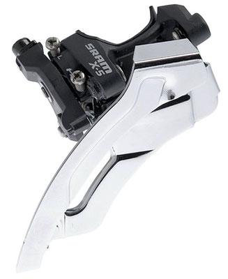 --Desviador Central  X-5 3X10 Abraz.Low 31.8/34.9Tiron Doble SRAM $1,075 MXN DESSRA0060