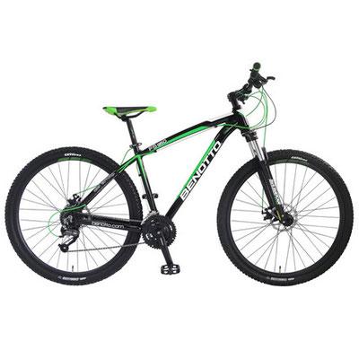 ***Bicicleta Benotto FS-950 R29 27V Shimano Altus Frenos DDM Color: Negro Talla: S-M-L $13,990 MXN MSUF952927SMNE
