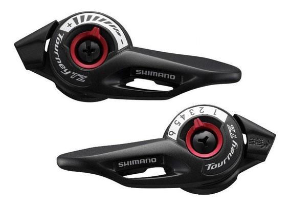 --Palancas de mando shimano tourney SL-TZ500 3X6 $210 MXN NP340207