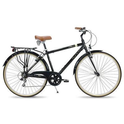 --#Bicicleta Hibrida Turbo Negra Hombre Urban 1.1 R700c 7 vel Aluminio $